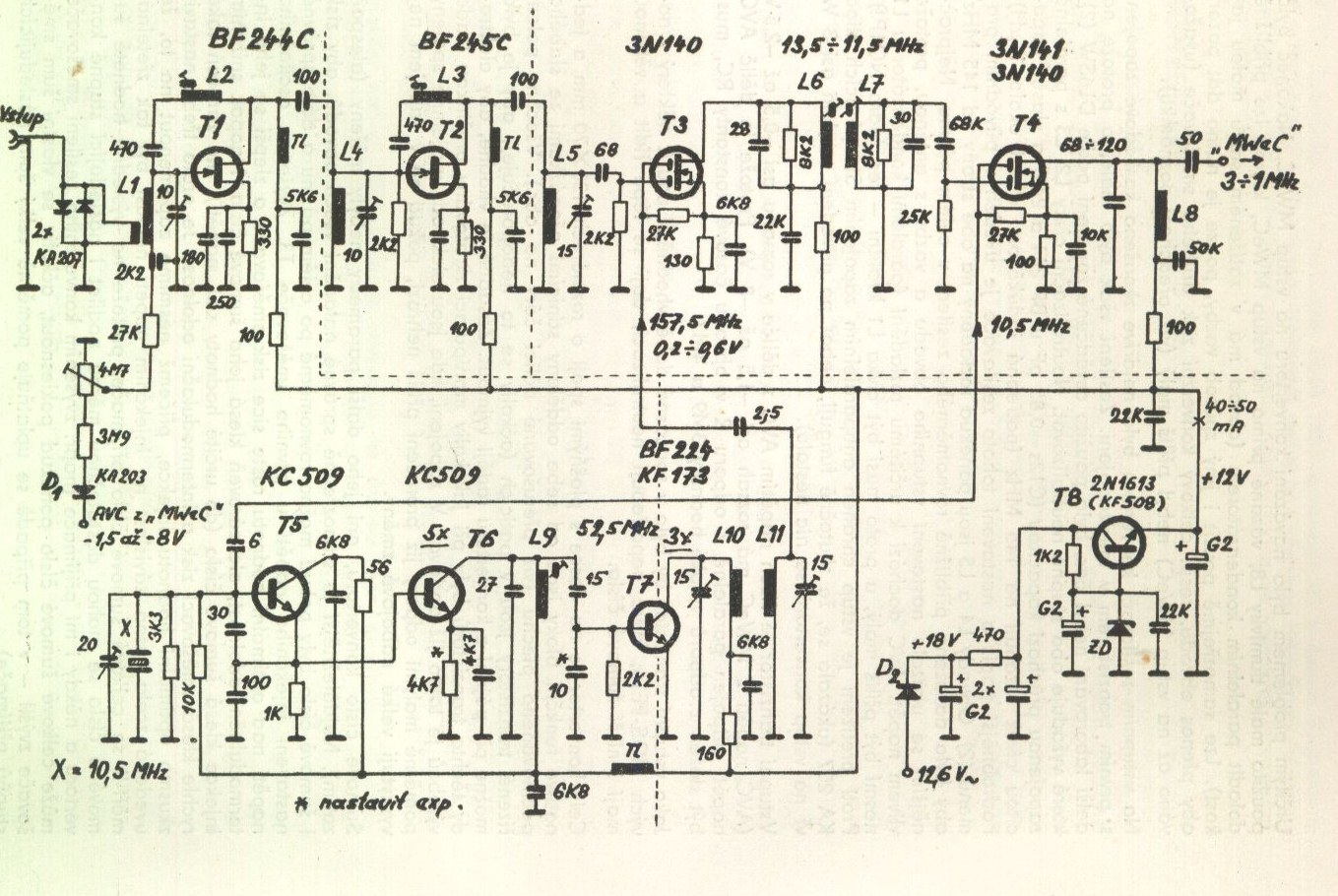 Strnky Spolku Cb Jilemnice 80 To 135 Mhz Am Fm Vhf Receiver Circuit Board Design Kliknte Pro Zvten